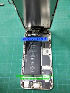 iPhone6 水没、画面修理 ドックコネクタ、近接センサー交換