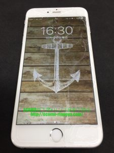 iPhone6 plus ガラス割れ 液晶内部不良