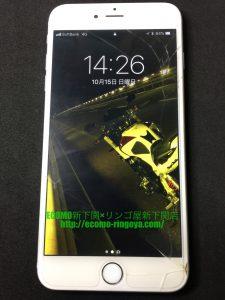 iPhone6plusのガラス割れ バッテリー膨張