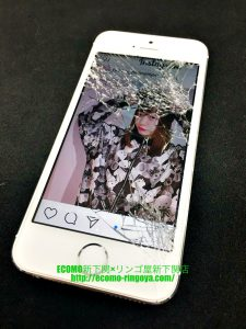 iPhone5s 画面割れ 内部腐食クリーニング
