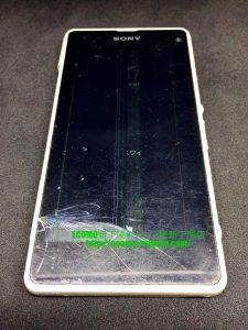 XPERIA J1 Compact D5788 SIMフリーのガラス交換+端子キャップ交換