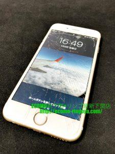 iPhone6s ガラス割れ 液晶交換