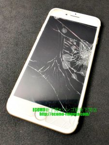 iPhone7 画面割れ 水没